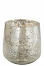 Fink Mary, Windlicht, Glas, antik silber, Ø 18cm,...