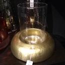 Fink ALDO Windlicht m.Glas,matt gold  Höhe 24,...