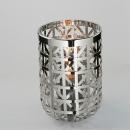 Fink Joris, Windlicht mit Glas, Edelstahl, H= 33cm,...