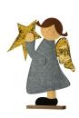 """Gilde Engel """"Anna"""" auf Base) grau/natur/gold H=..."""