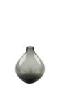 Fink ELIKA Vase,Glas,grau  Höhe 19cm, Ø 16cm...