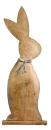 """Gilde Hase mit """"Fliege""""  aus Mangoholz H: 74 cm..."""