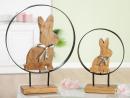 """Gilde Kreis """"Easter"""" Hase aus Mangoholz, Metall..."""