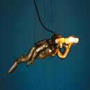 Deckenleuchte Diver Dave, gold
