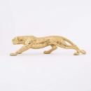 Werner Voß Leopard Dekofigur laufend goldfarben