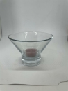 Glas Teelichthalter H: 9 cm D: 12,5 cm