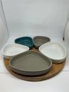 Gilde Keramik Tablett Dipp-Schalen