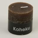 3 er Set von Kaheku Cylinderkerze Rusti braun 6,8...