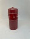 Formano 3 er Set Stumpenkerze rot .7x16 Kristall rot