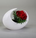 Formano dekorative Vase 18cm creme