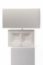 Tiziano Lampe Grado42 cm creme/malma (Schirm grau) E27...