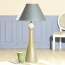 "Gilde Keramik Lampe ""Opaco"" silber Höhe 65 cm"
