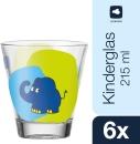 6 er Set  von Leonardo Becher 215ml blauer Elefant 21419