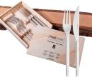 Puresigns ONE Extra Steakbesteck Edelstahl Matt Silber...
