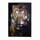 Werner Voß Bild Tiger, Print auf Canvas 80x120 cm