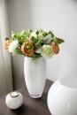 Fink AFRICA Vase,Glas,opal weiss  Höhe 28cm,...