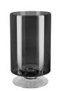 Fink VIANA Vase,Windlicht, Glas,grau  Höhe 34,5cm,...