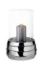 Fink COCON Windlicht m.Glas,Keramik, silberfarbig...