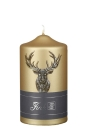 Fink CANDLE Hirschmotiv,metallic,gold  Höhe 15cm,...