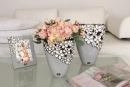 "2er Set Gilde Breite Vase ""Diana Grey"" H: 22.50..."