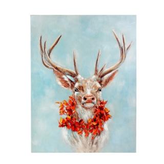 Werner Voß Bild Autumn Deer Acryl auf Leinwand 90x120 cm