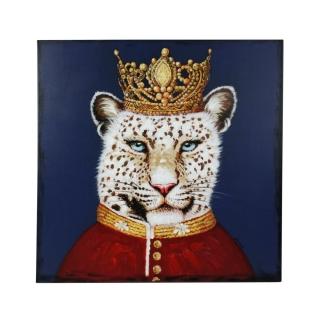 Werner Voß Bild Lord Leopard Acryl auf Leinwand 80x80 cm