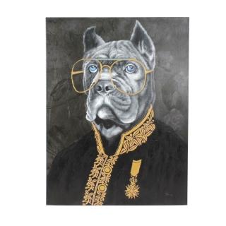 Werner Voß Bild Master Mastiff Acryl auf Leinwand, 90x120 cm