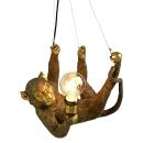 Werner Voss Decken/-Pendelleuchte Affe Gold 37x23,5x30 cm