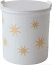 ASA 4871425 Vorratsdose Sterne - gold / weiß -...