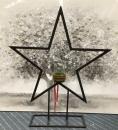 Gilde Metall Stern/Kerzenhalter auf Fuß H: 81 cm L:...